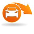 voiture sur bouton orange
