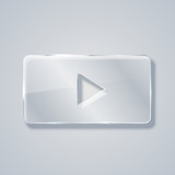 vector modern glass play icon. Eps 10