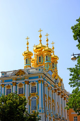 Orthodox church of Resurrection in the Catherine Palace in Pushk