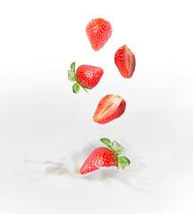 Strawberry milk or yogurt splash.