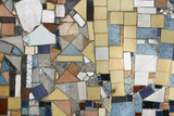 Background of Colored Mosaic with Old Broken Tiles