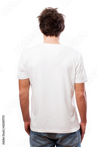 White blank back T-shirt