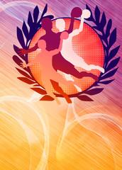 Handball girl background