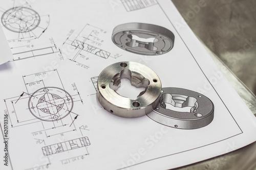 canvas print picture measuring metal component