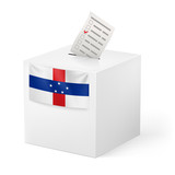 Ballot box with voting paper. Netherlands Antilles
