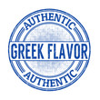 Authentic greek flavour stamp