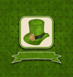 Holiday background with hat and ribbon for St. Patrick's Day