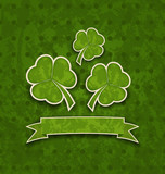 Holiday background with clovers for St. Patrick's Day