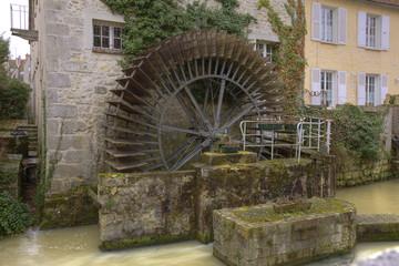 Mill in Nemours, Seine-et-marne, Ile-de-France, France