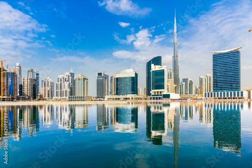 Leinwanddruck Bild Dubai skyline, UAE.