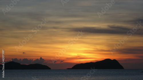 Philippines island sunset time lapse