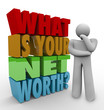 What Is Your Net Worth Question Total Money Value Wealth