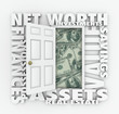Net Worth Financial Value Total Wealth Assets Debts Open Door Wo