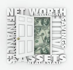Net Worth Financial Value Total Wealth Assets Debts Open Door Wo