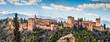 Leinwanddruck Bild - Famous Alhambra in Granada, Andalusia, Spain