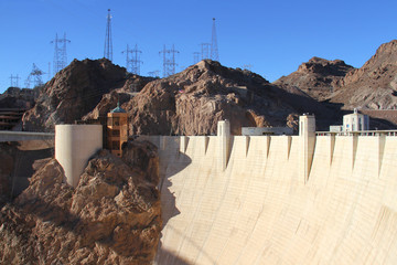 View of the Hoover Dam in Nevada