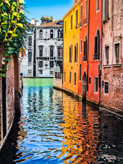 Romantic scene in Venice, Italy