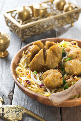 Indonesian meatball noodles