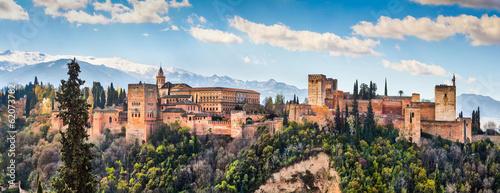 Leinwanddruck Bild Famous Alhambra in Granada, Andalusia, Spain