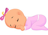 Fototapety Baby girl sleeping