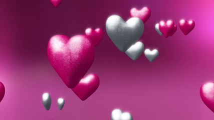 Valentines Love Hearts Abstract Pink Background