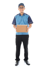 Asian delivery person