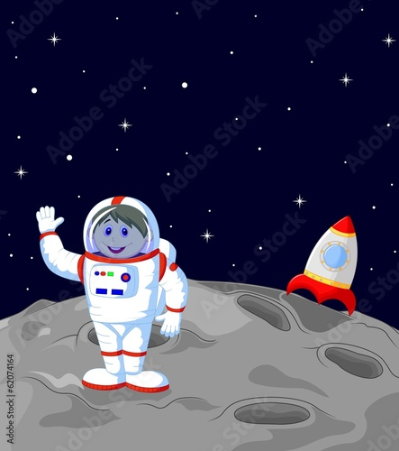Astronaut landing on the moon