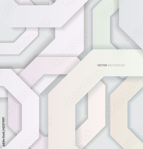 Abstract 3D Geometrical Corners Design