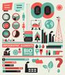 Set infographic elements