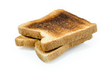 dark burned sandwich bread :   Clipping path included