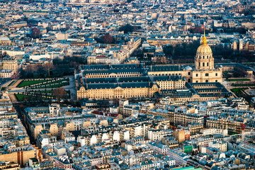Paris, Les Invalides from the Eiffel Tower.