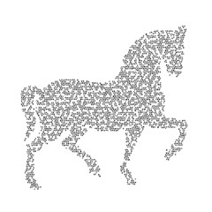 Vector image of an horse design