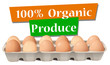 An organic produced eggs