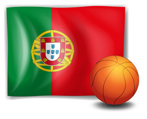 A ball and the flag of Portugal