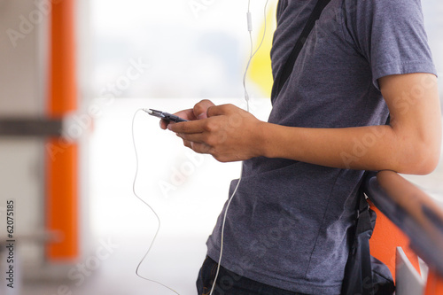Man using phone