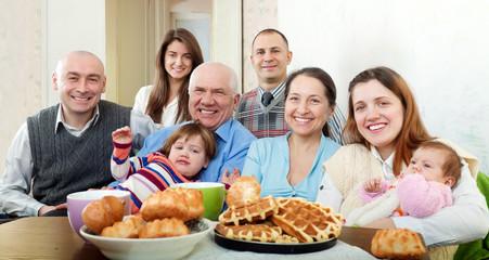 Portrait of happy multigeneration family