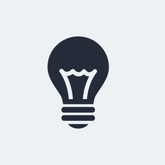 Idea Flat Icon with shadow. Vector EPS 10.