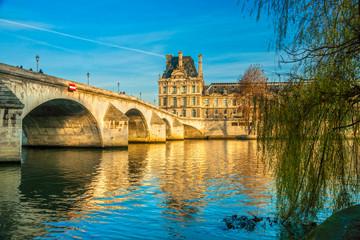 Louvre Museum and Pont des arts, Paris - France