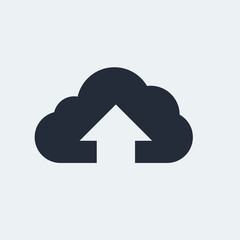 Cloud Flat Icon with shadow. Vector EPS 10.