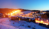 Village Donovaly at night - Slovakia ski resort