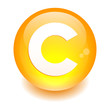 bouton internet copyright icon orange