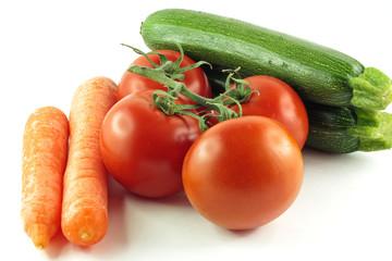 Carote pomodori zucchine