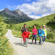 Wanderung im Gebirge