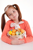 Portrait of little girl with Easter egg
