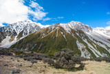New Zealand scenic mountain landscape