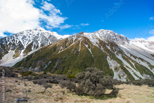 Poster New Zealand scenic mountain landscape
