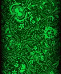 green batik background