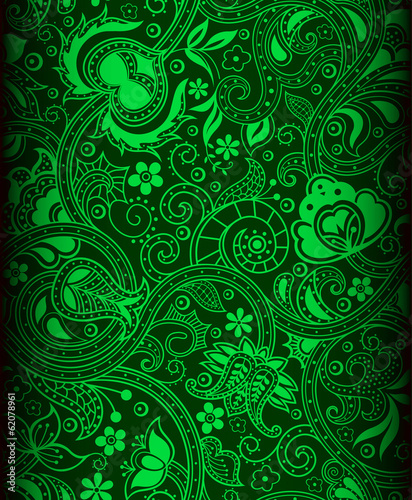 green batik background