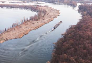 barge on odra river