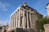 Temple of Antoninus and Faustina in the Roman Forum, Rome Italy
